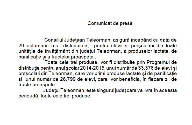 comunicat CJ