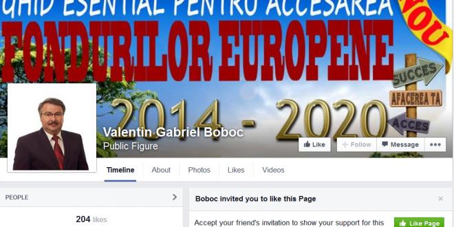 Un like pentru Valentin Gabriel Boboc – Public Figure!