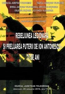 afis simpozion Rebeliunea legionara