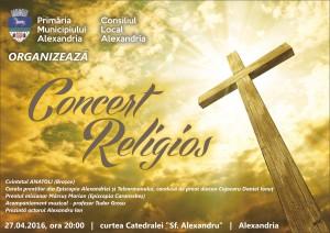 afis concert religios