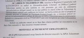 """Eugen Coman a pierdut procesul cu ziarul Liber în Teleorman. Directorul APIA a cerut în instanță """"interzicerea publicării articolelor privitoare la persoana sa""""!"""