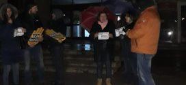 Protest cu luminile stinse la Alexandria