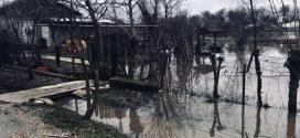 Revărsări ale râului Câlniștea, în localitatea Drăgănești Vlașca