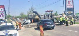 Podul Vedea este, din nou, în reparații. Șoferii au claxonat minute în șir în semn de protest