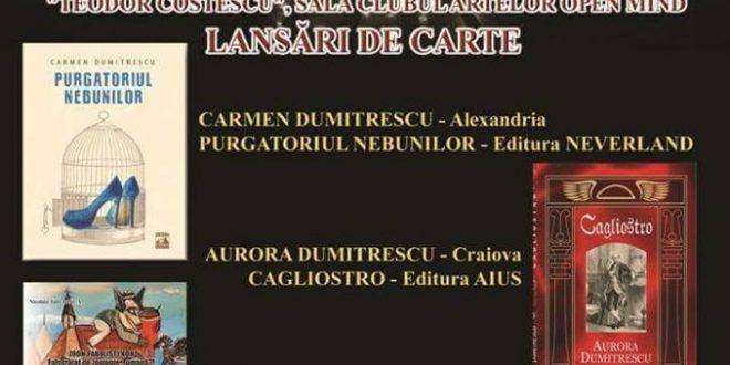 Carmen Dumitrescu va lansa cartea despre înălţare și ticăloșie la Drobeta – Turnu Severin