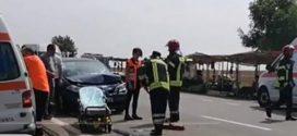 Accident rutier pe DN 6, la ieșire din Vitănești
