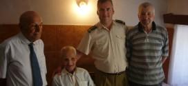 Plutonierul în retragere Ion Giuclea, venerat la 101 ani
