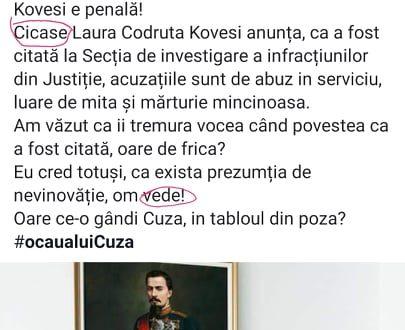 Președintele Consiliului Județean Telorman o atacă pe Kovesi… analfabet