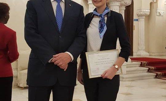 Teleormăneni de mândrie! Olimpica Daria Burtea a fost premiată de Iohannis