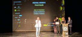 Premiul onorific pentru presă locală al Galei Superscrieri 2019 a ajuns la ziarul Liber în Teleorman